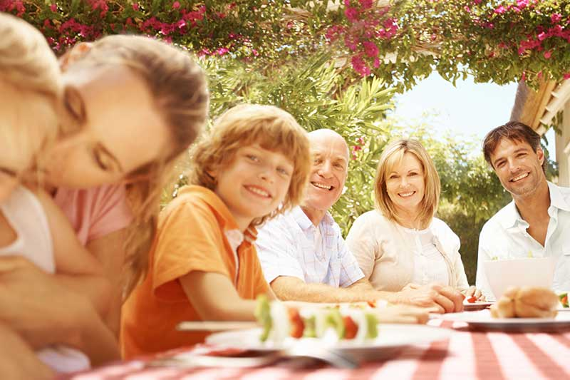 Dining with Family Outdoors